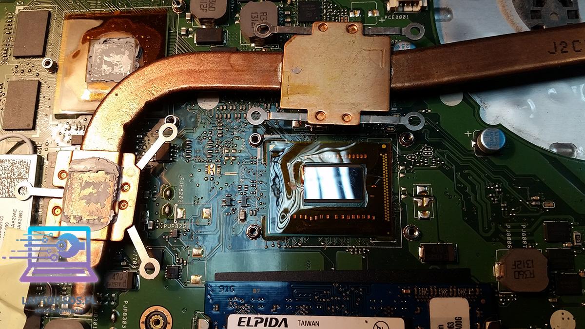 Wada fabryczna ASUS K56 serwis laptopa