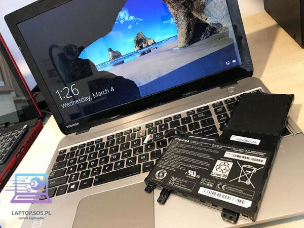bateria do laptopa toshiba wymiana serwis komputerowy laptop sos krakow