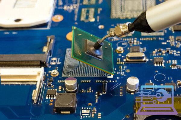 wymiana układów BGA układu grafiki, mostka północnego na płycie głównej laptopa