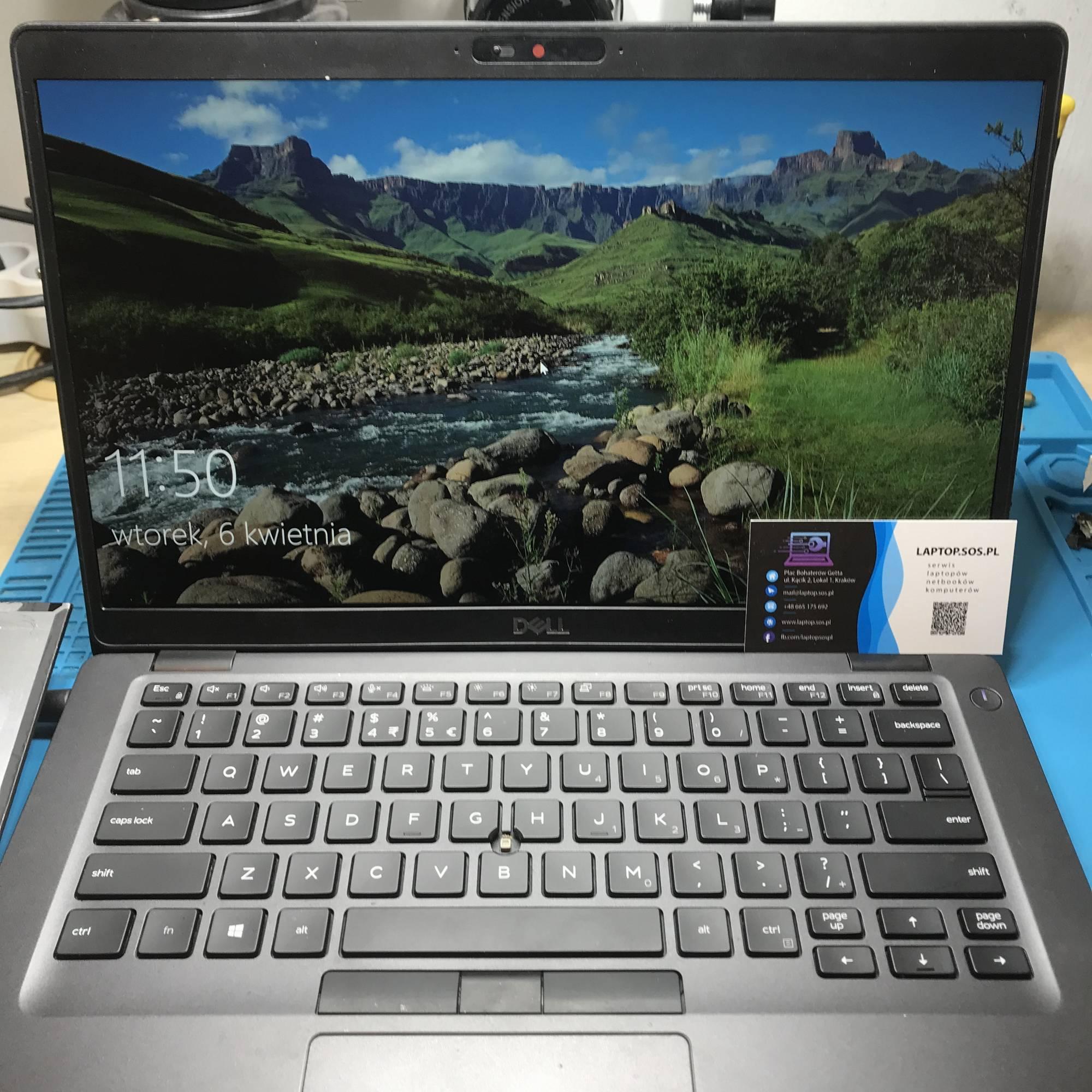 wymiana ekranu matrycy w laptopie dell